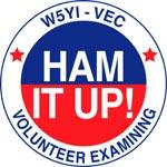 "W5YI ""Ham it Up"" VE testing logo"